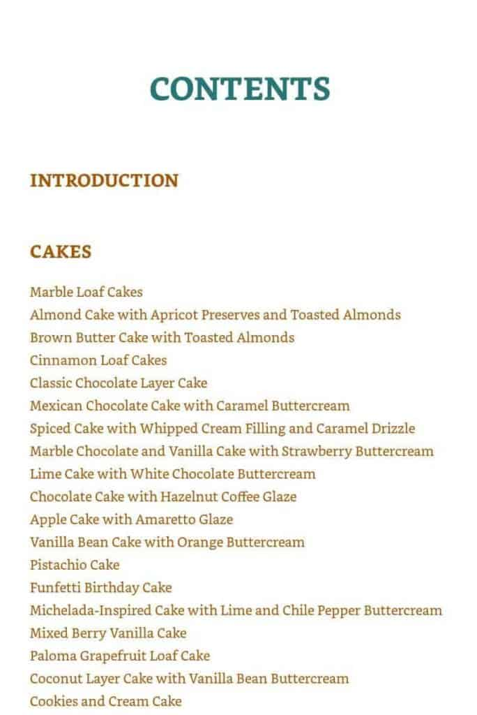 the contents page of air fryer delights.