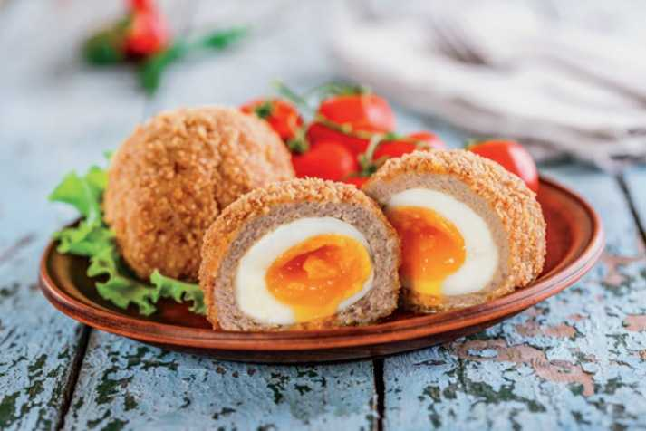 this is the picture of the scotch eggs in the cookbook itself. Can I get close?