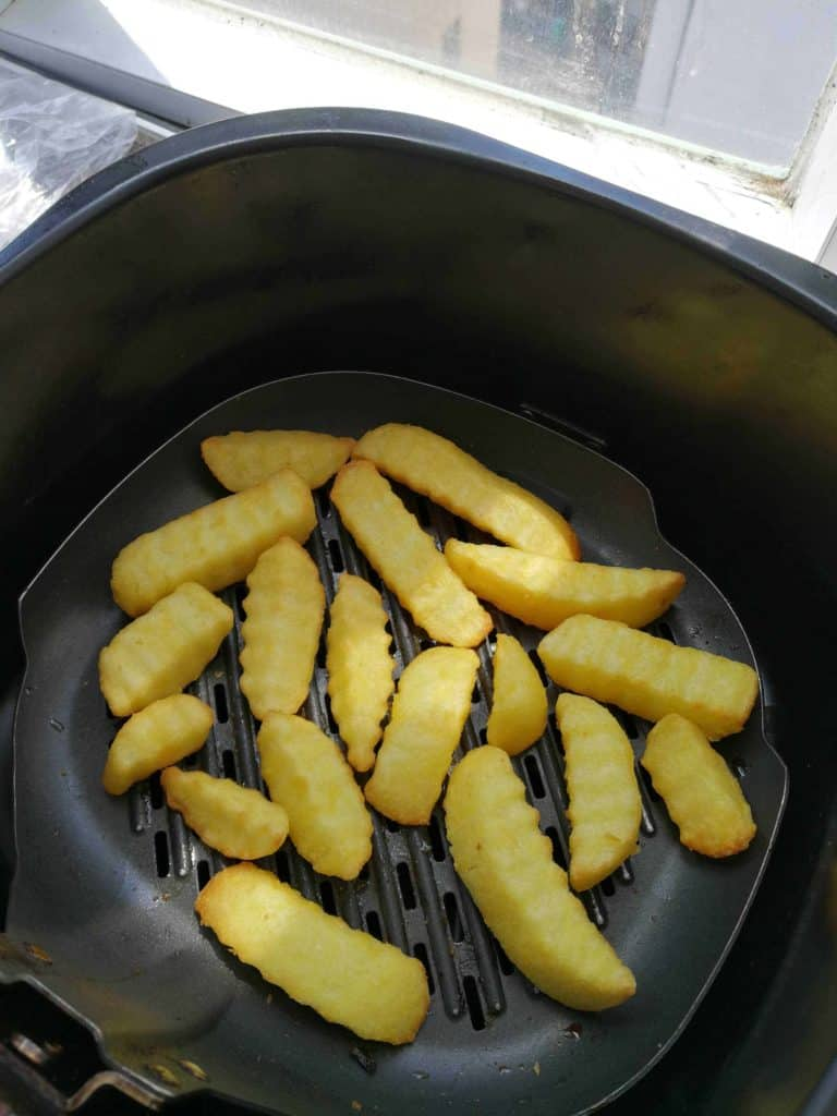 This is what the frozen chips looked like after being cooked!