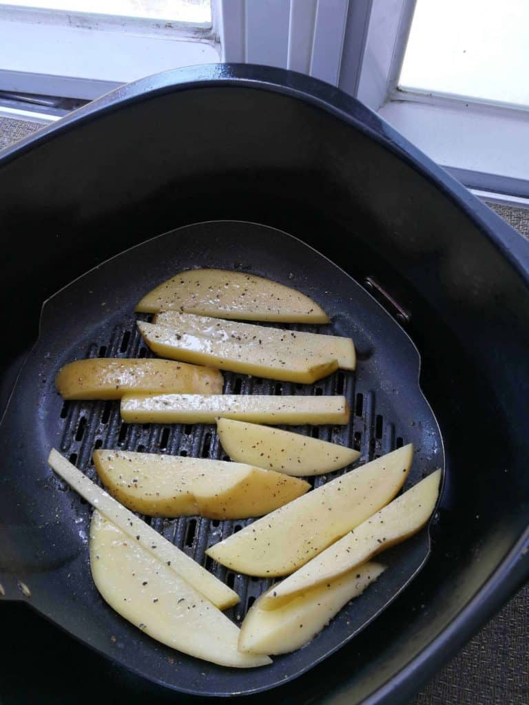 the home made chips sat in my air fryer!