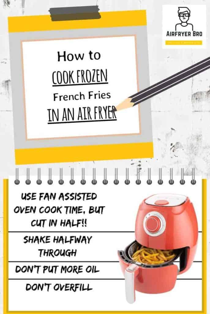simple instructions for cooking frozen french fries with a hot air fryer