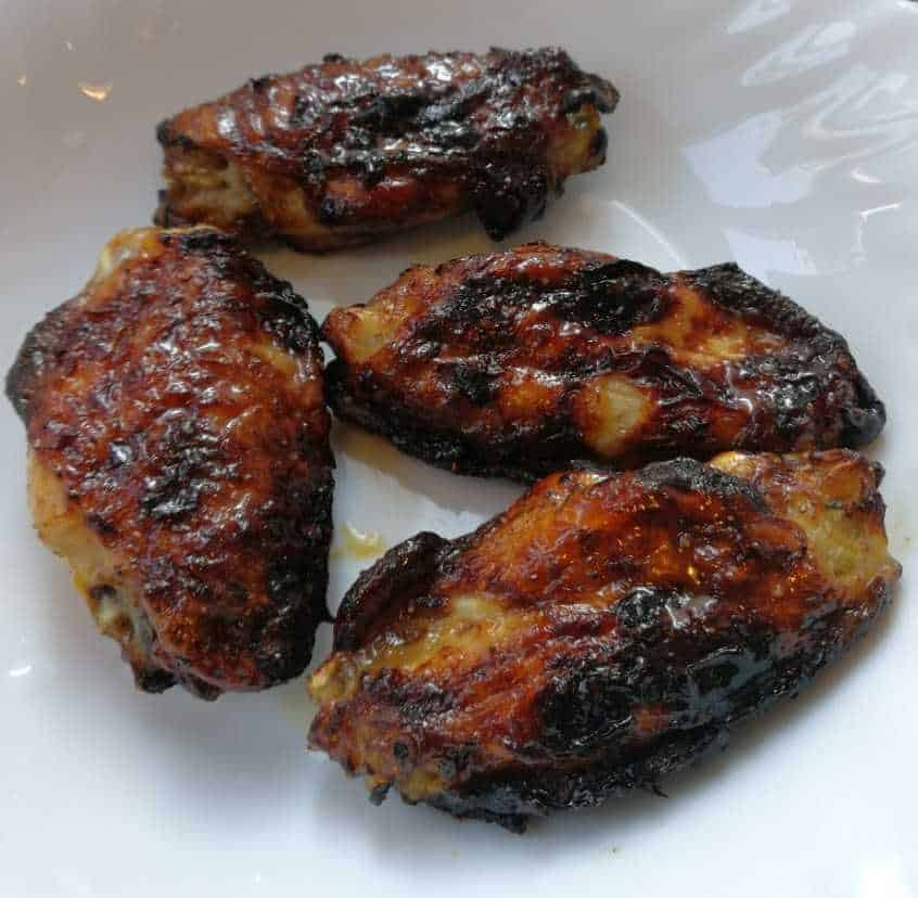 barbecued air fried chicken wings!