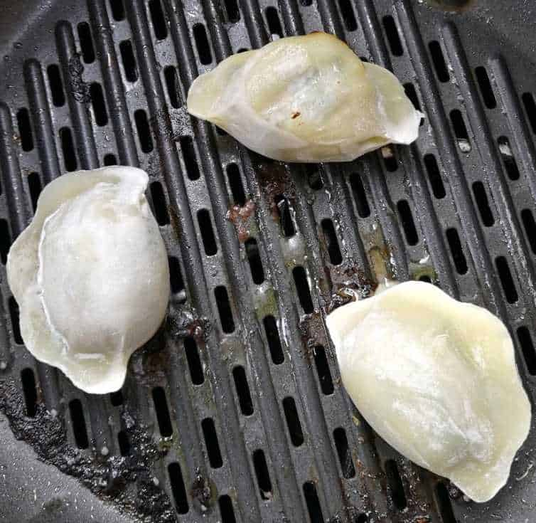 Did water help steam dumplings in an air fryer?