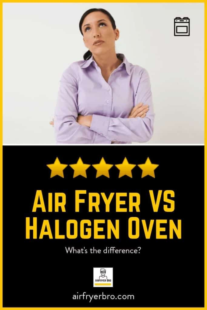 working out the key differences between a halogen oven and air fryer.