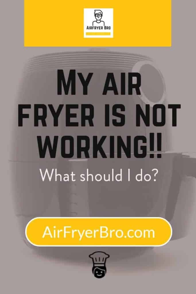 what you should do when your air fryer stops working