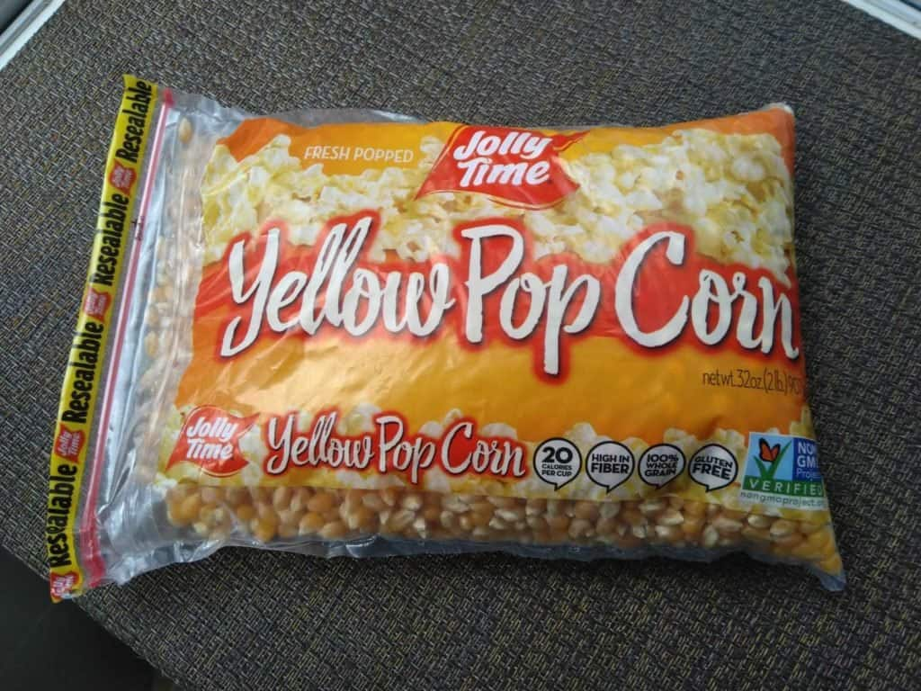 Here's the popping corn I tried to cook in my air fryer/