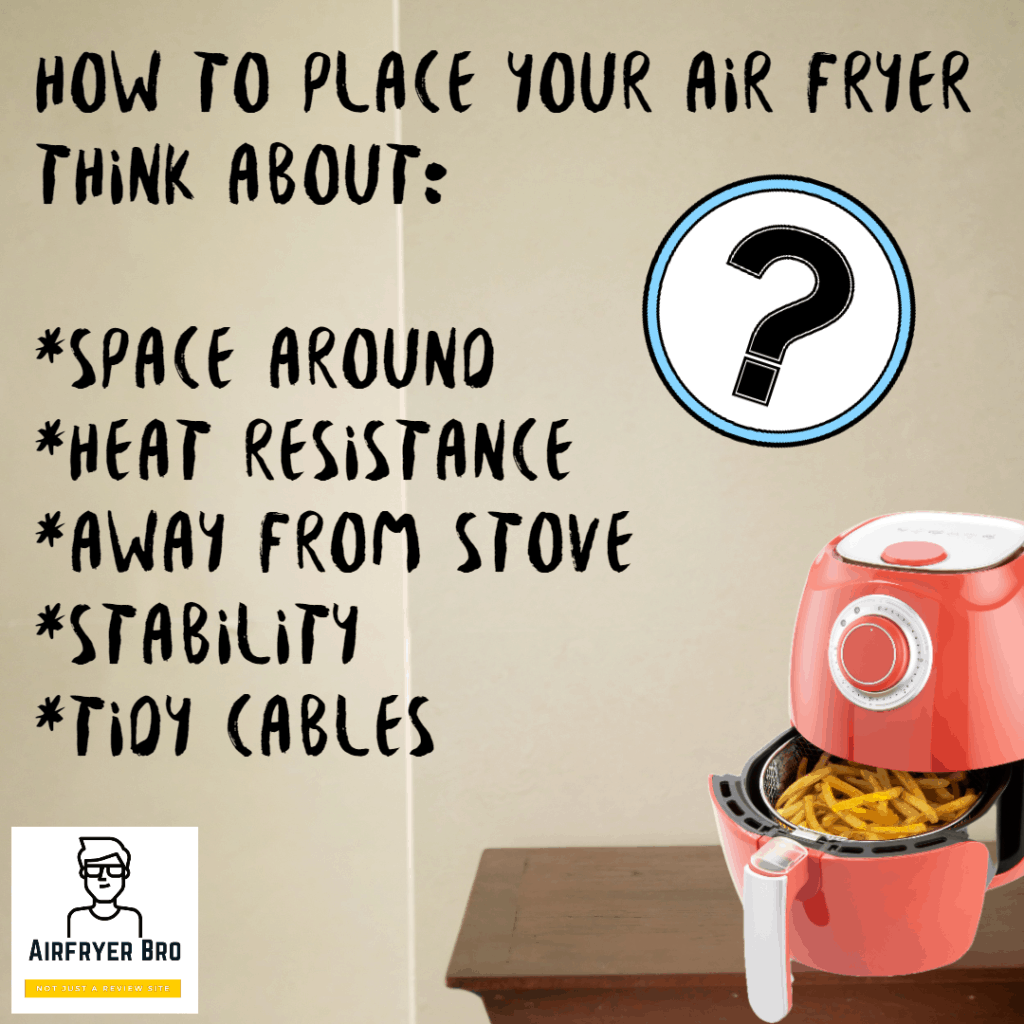 My advice on the best place to put your air fryer!