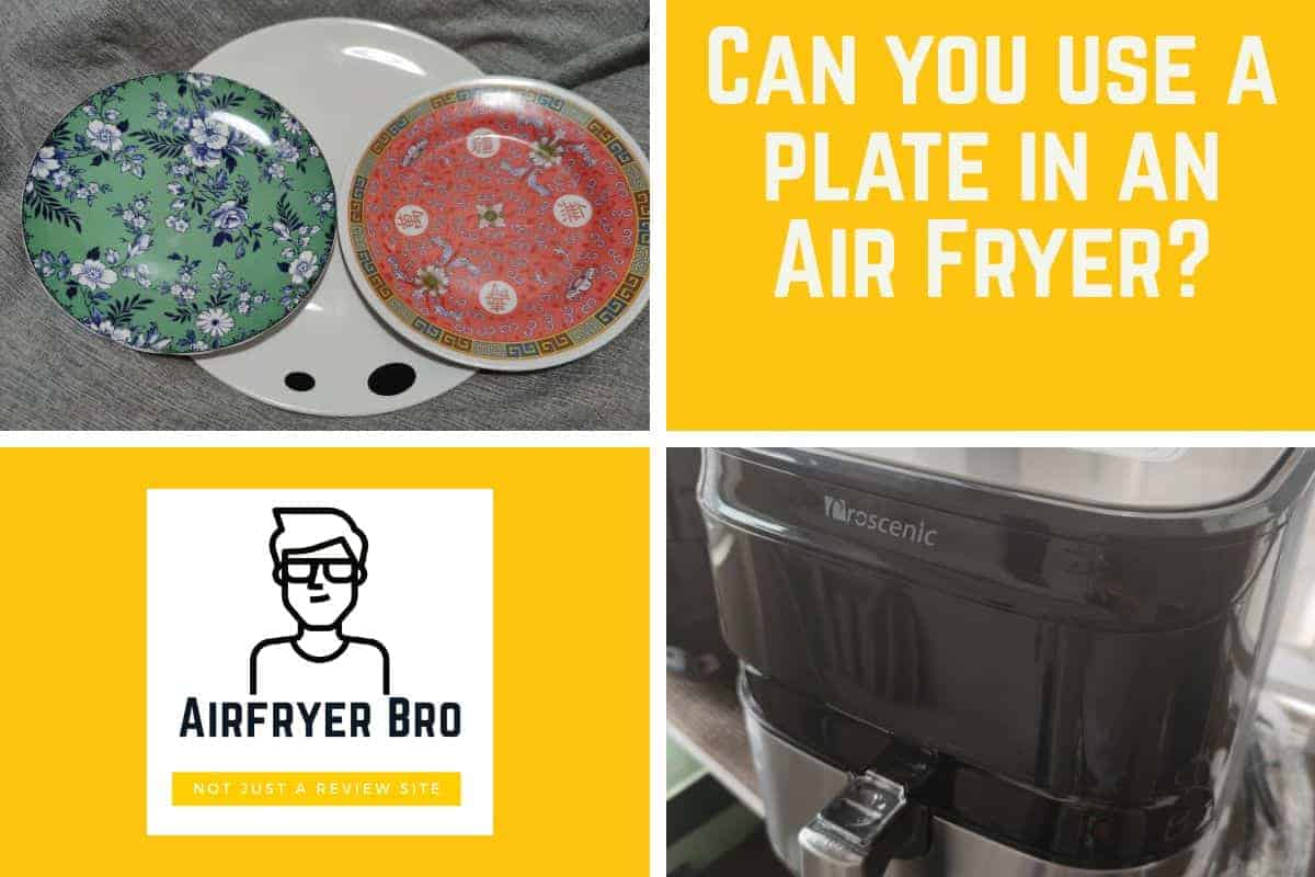 Can you put a plate in an air fryer?